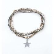 """3-gewinnt-Armband """"Star"""" Hämatit kakhi (327821)"""