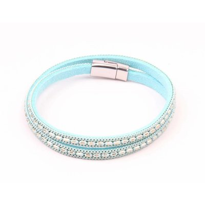 Wrap bracelet with colored chain mint (327847)