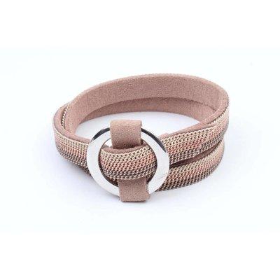 "Wikkelarmband ""Ring"" met kettinkjes nude (327852)"