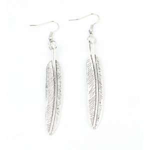 "Earrings ""Feather"" old silver"
