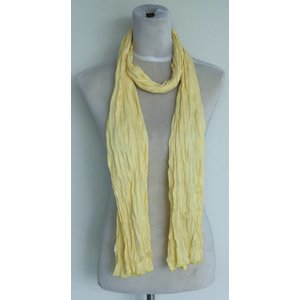 "Scarf ""Uni Jersey S"" light yellow"