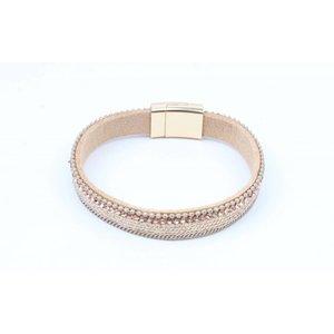 Armband mit mattem Gold nur nackt