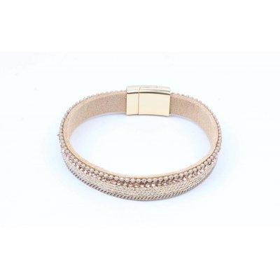 Armband met mat gouden net nude (327857)