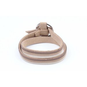 "Wrap bracelet ""Ring"" with chains taupe"