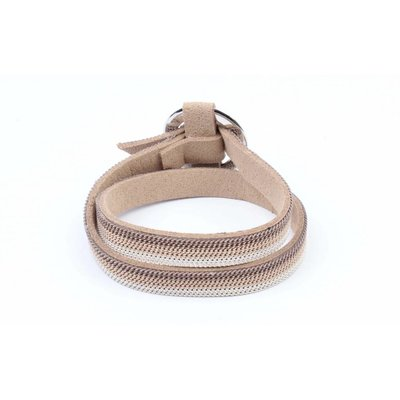 "Armband ""Ring"" mit Ketten Taupe wickeln (327852)"
