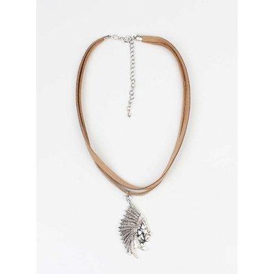 Choker indiaan bruin (318083)