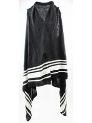 "Vest ""Striped"" black and white"