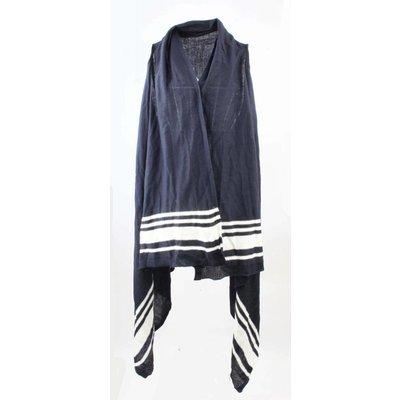 Vest 'Striped' blauw-wit