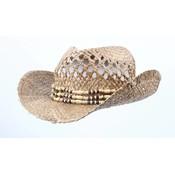 Cowboy hat ' Grass ' with kralenkoort
