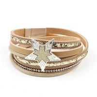 Bracelet multi row ' Star ' gold