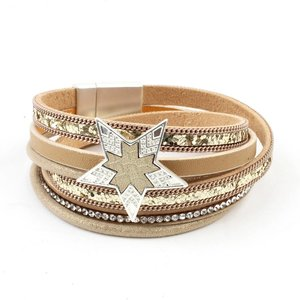 Armband multi row 'Star' gold
