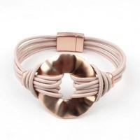 Bracelet multi row ' Circle ' rose