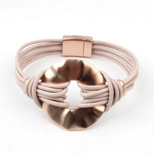 Bracelet multi row ' Circle ' rose