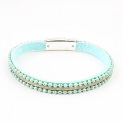 Armband 'metal balls' turquoise