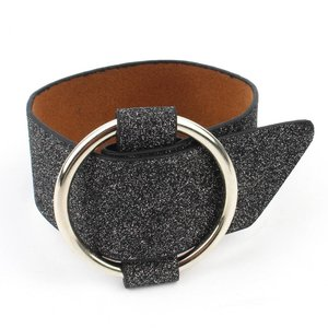 Bracelet ' metal ring ' wide black