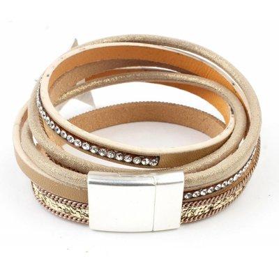 "Armband-Multi-Reihe ""Star"" gold"
