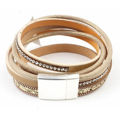 Bracelet multi row ' Star ' gold