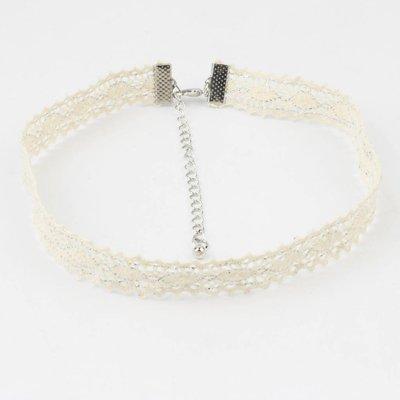 Choker ' silver lace '