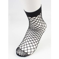 Socks ' Fishnet ' large black per 2 pairs