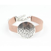 Armband 'Happy Star' roze