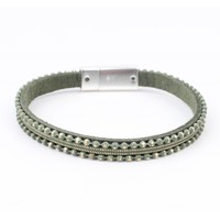 Bracelet ' Metal balls ' green