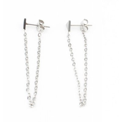 Earring stainless steel necklace ' Triangle '