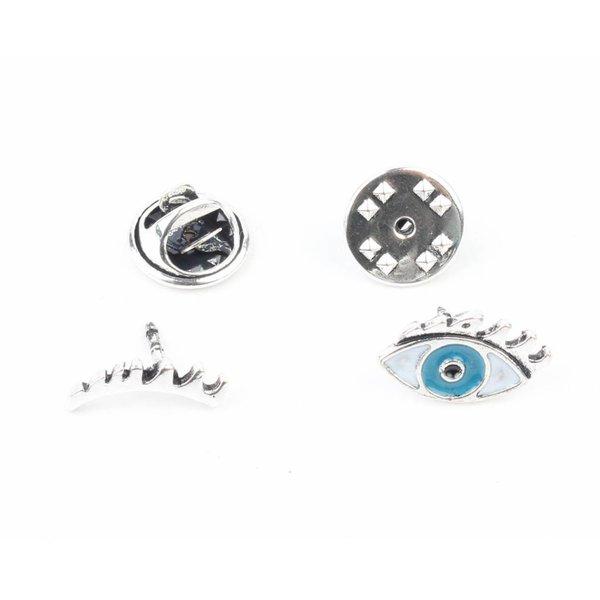 """Fashion pin 'Eyes"""" set van 2"""