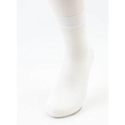 Socks ' Fishnet ' white per 2 pairs