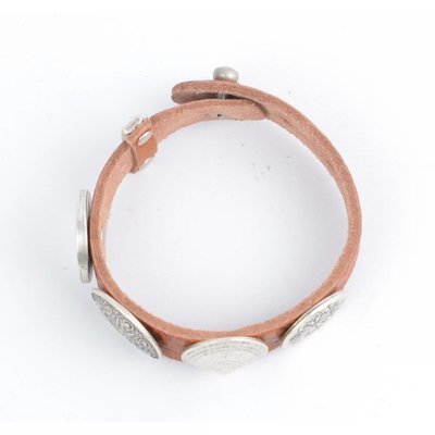 Rove Rove Bracelet 4 var. studs, Soft cognac, Mia (L)