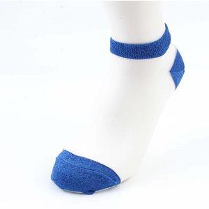 Sokken Lurex wit- blauw per 2 paar
