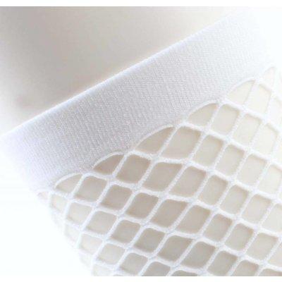 """Socken """"Sportlich Fischnetz"""" weiße Doppelpack"""