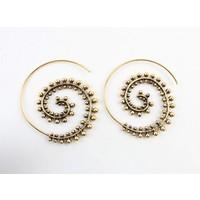 """Spiral earring """"Etnic"""" gold"""