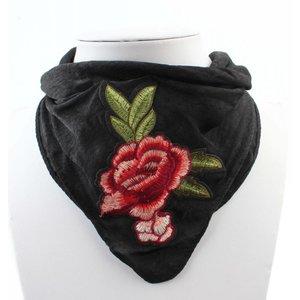 """Schal """"Rose"""" schwarz"""
