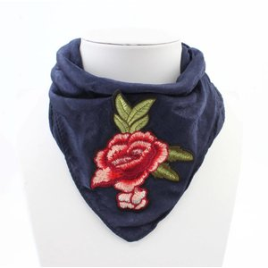 "Scarf ""Rose"" blue"
