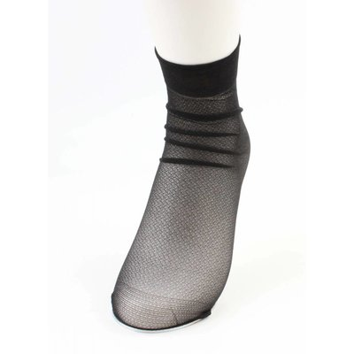 """Sokken """"Metallic"""" zwart, per 2 paar"""