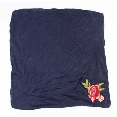 """Schal """"Rose"""" blau"""