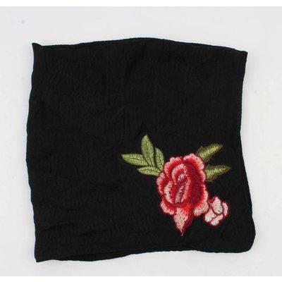 "Scarf ""Rose"" black"