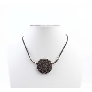"Necklace ""Metal dots"" old silver"
