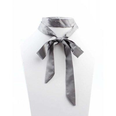"Multi Halskette ""Bow"" grau"