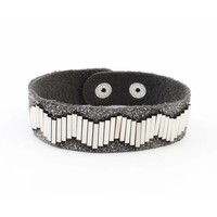 "Bracelet ""Metal pipes"" grey"