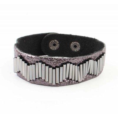 """Armband """"Metalen buizen"""" antraciet"""