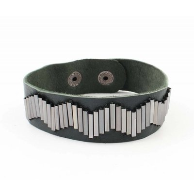 "Bracelet ""Metal pipes"" petrol"