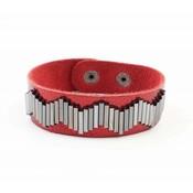 "Bracelet ""Metal pipes"" Red"