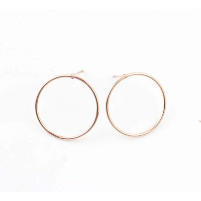 """Earring """"Round"""" Stainless steel rosé"""