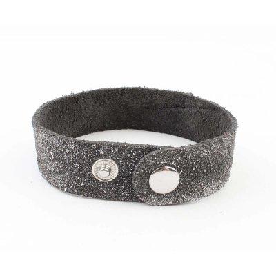 """Armband """"Metalen buizen"""" grijs"""
