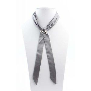 "Halskette ""Bow"" grau"