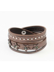 """Armband """"Ster & Dot"""" bruin"""