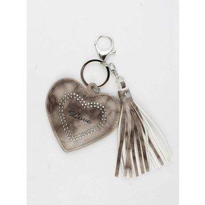 "Pendant ""Heart & Love"" brown"