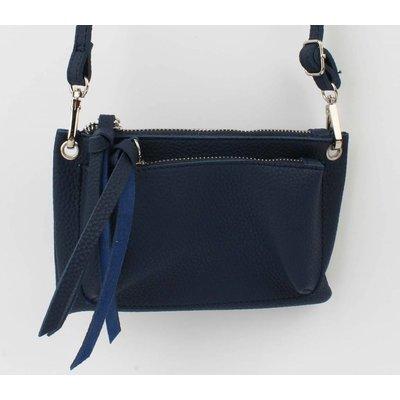 """Cross Body Tasche """"Doppeltasche"""" blau"""