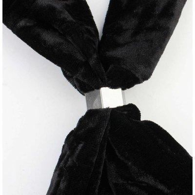 """Sjaal """"Fluweel"""" zwart"""